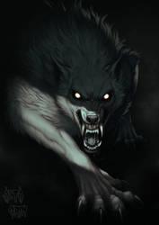 Horrortober: Werewolf II by AltaGrin