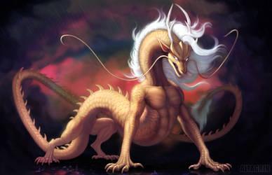 Commission: Gold Dragon V