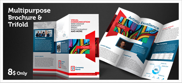 Multipurpose Brochure  and Trifold Indesign by fingergraphics