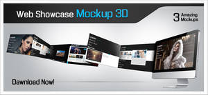 Web showcase Mockup PSD by fingergraphics