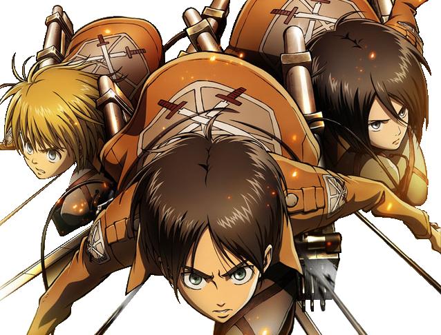 Eren/Mikasa/Armin Render by InfinityMoment