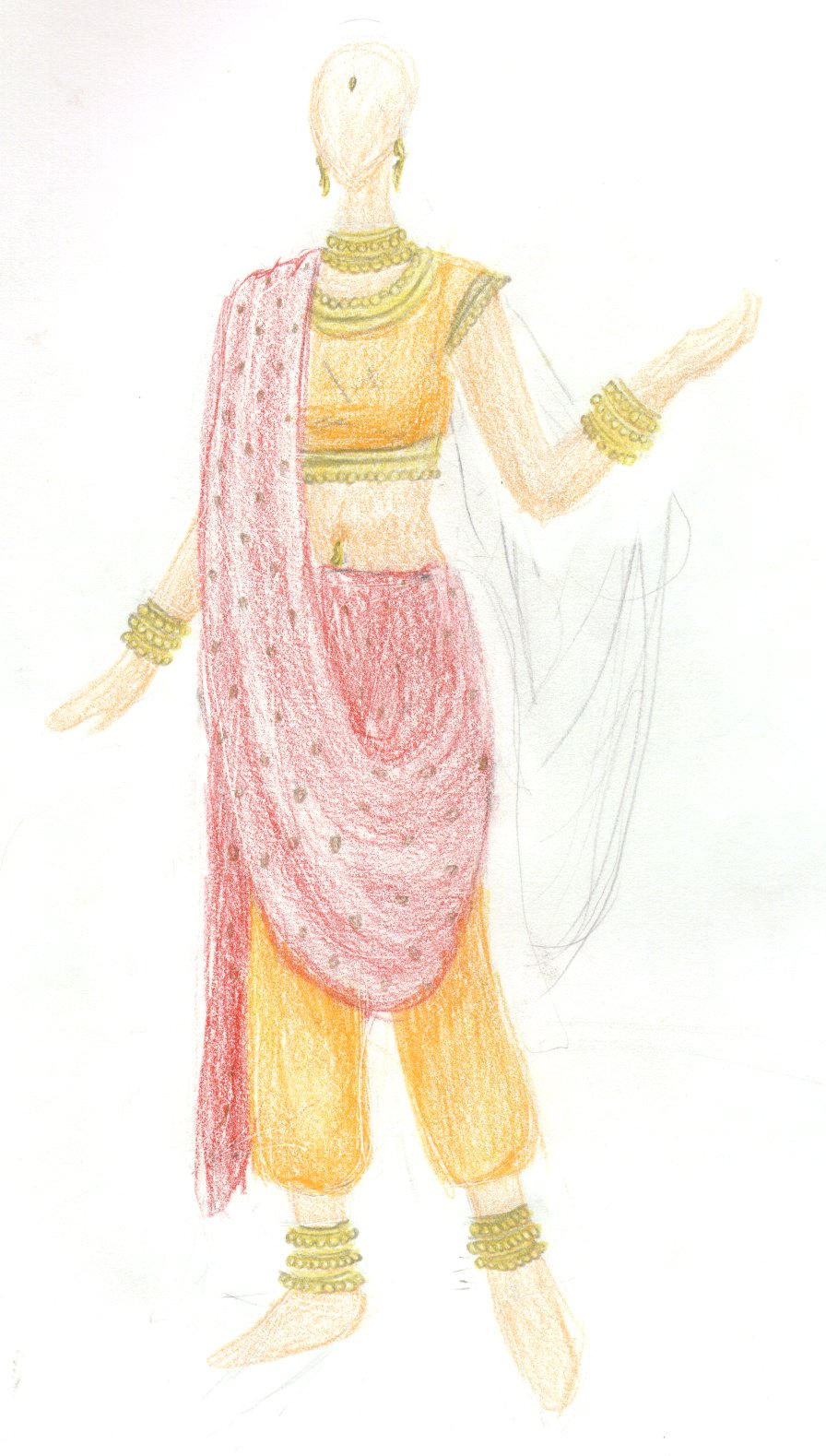 Clothing Design - Indian Dress by sharpiechick on DeviantArt