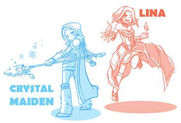 DOTA 2 - CrystalMaiden+Lina by Zen-ryu