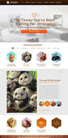 Polygon - One Page Business / Portfolio PSD Templa