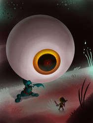 The Boss - Drawlloween - Day 9 Eyeball by Kellykatz