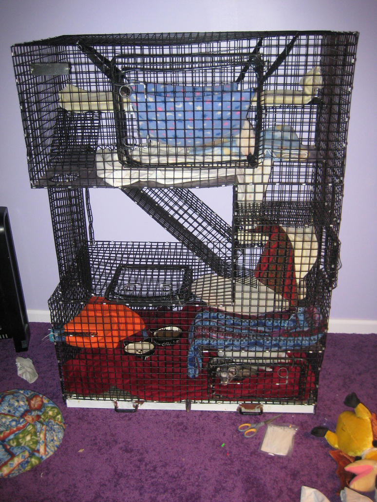 how to make a ferret cage
