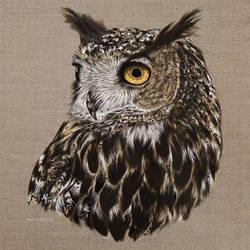 Oilpaint Eagle Owl Aiko