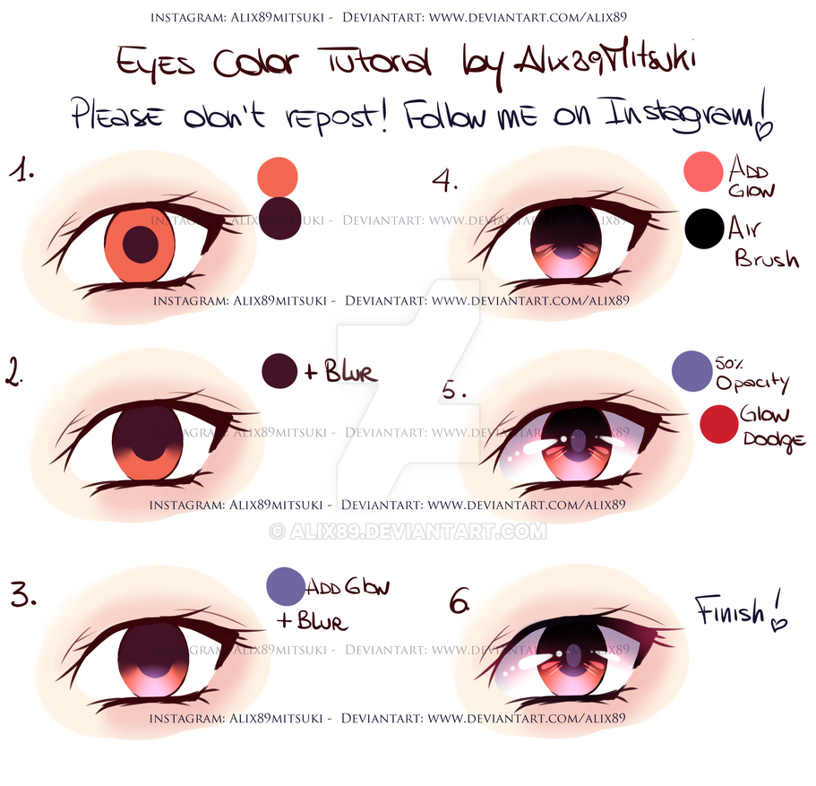 Easy Eyes Color Tutorial by Alix89