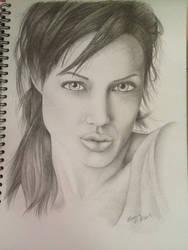 Traditional Art - Portrait Drawing (Pencil) by KoolBluSky