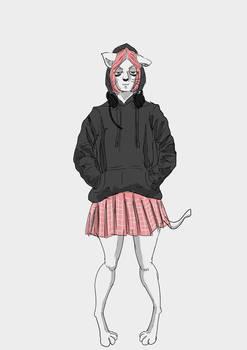 Cat Gamer Girl