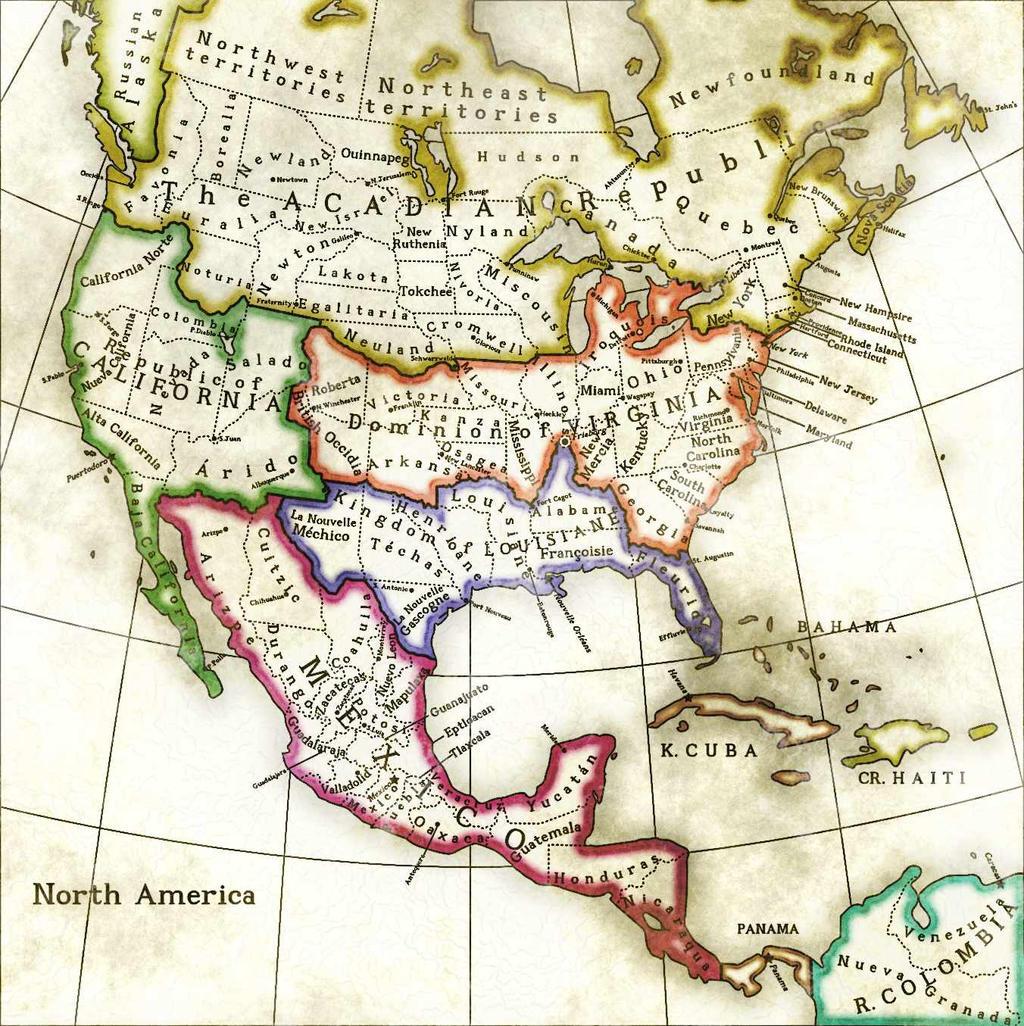 Steamopera North America By Naeddyr On DeviantArt - North america cities map