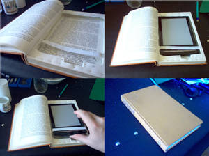 E-reader cover from a book