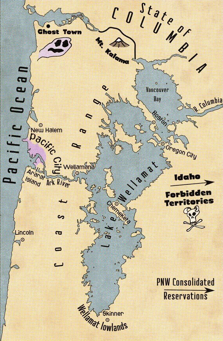 Test: Map of the Lake Wellamat region by Naeddyr