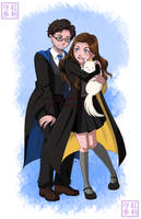 Hogwarts Tim and Ellie forposting by KristalDawn07
