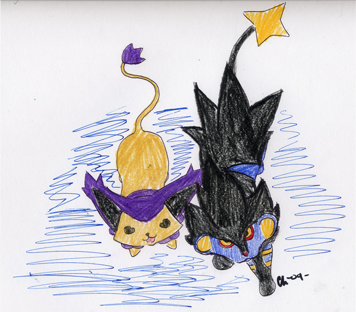 Delcatty and Luxray by...