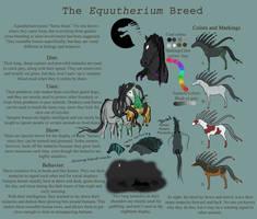 Equutherium--Vampire Horse breed sheet by ShinyAquaBlueRibbon