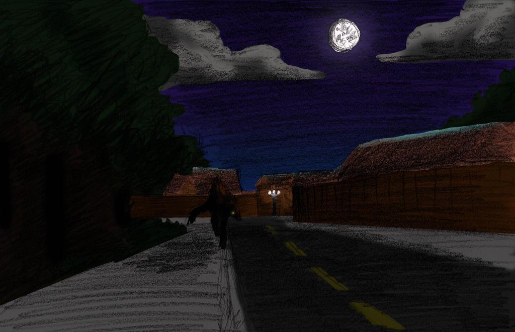 Werewolf in da neighborhood by ShinyAquaBlueRibbon