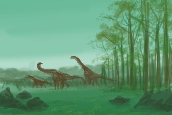 Little Sauropod Forest by ShinyAquaBlueRibbon