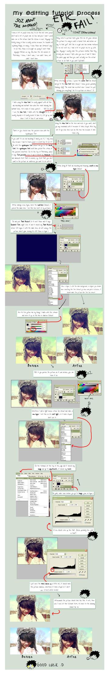 My Editing Tutorial Process. by RunWhiteRabbit