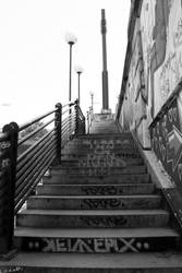 Vienna Graffiti - stairs by LexartPhotos