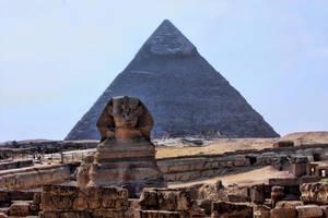 Sphinx + Pyramid III by LexartPhotos