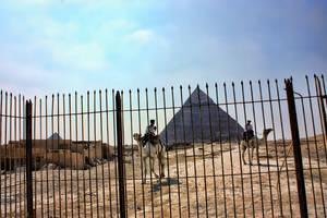 Pyramide behind bars by LexartPhotos