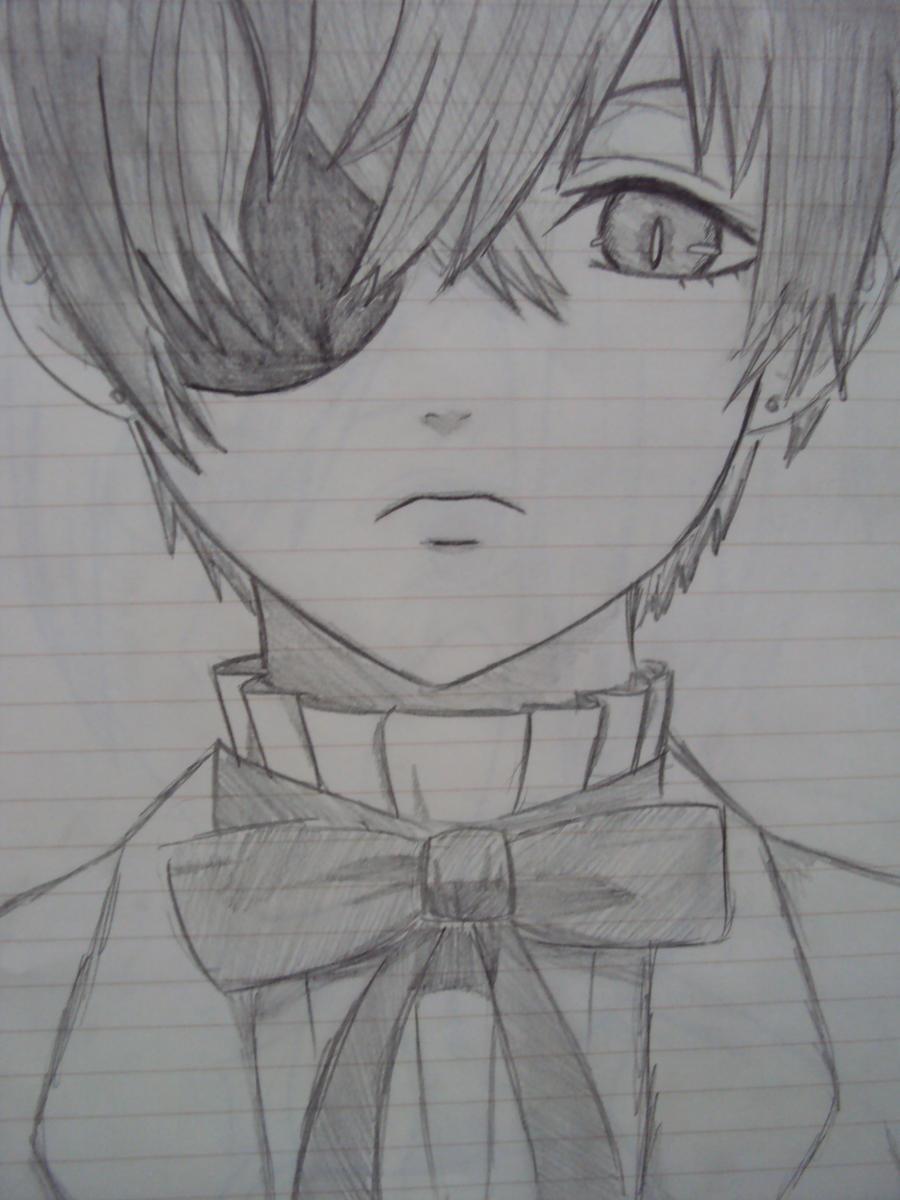 how to draw ciel phantomhive eyes