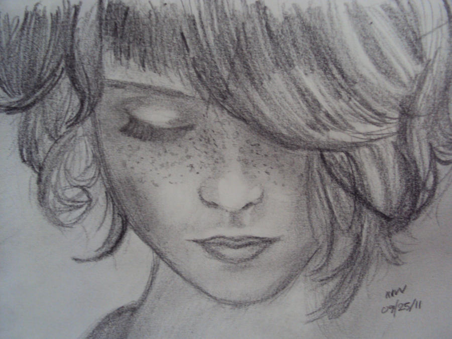 Drawing of a girl by newproductions on DeviantArt