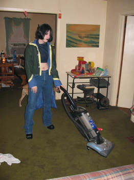 Vacuuming was never so gothy.