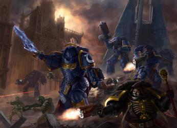 Warhammer 40,000 Fan Art - Landing by SergeyNagornov