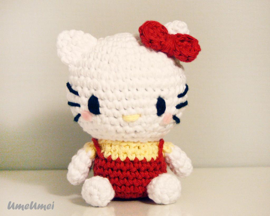 Crochet Doll Hat Pattern Free : Hello Kitty Amigurumi Doll by umeumei on DeviantArt