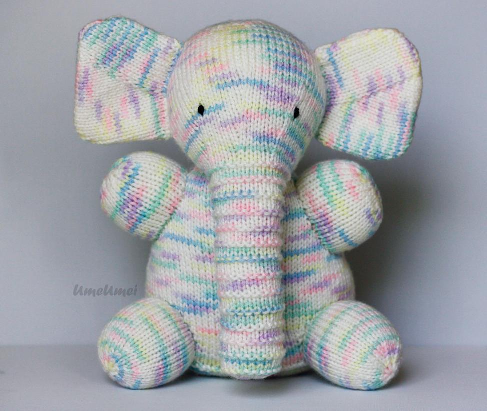 Knit Amigurumi Elephant : Knitted Baby Elephant by umeumei on DeviantArt