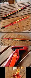 Wooden sword No 7, Lightning Crimson Blitz by Il-Gritz