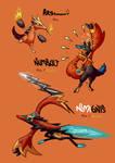 Pokemon Concept #54 - Arsinoot Family