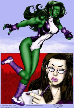She Hulk Of The Avengers  (Colors)