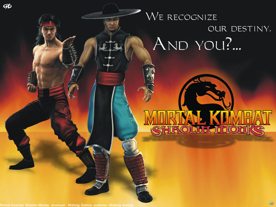 Mortal kombat shaolin monks liu kang