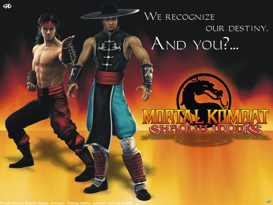 Mortal kombat shaolin monks liu kang