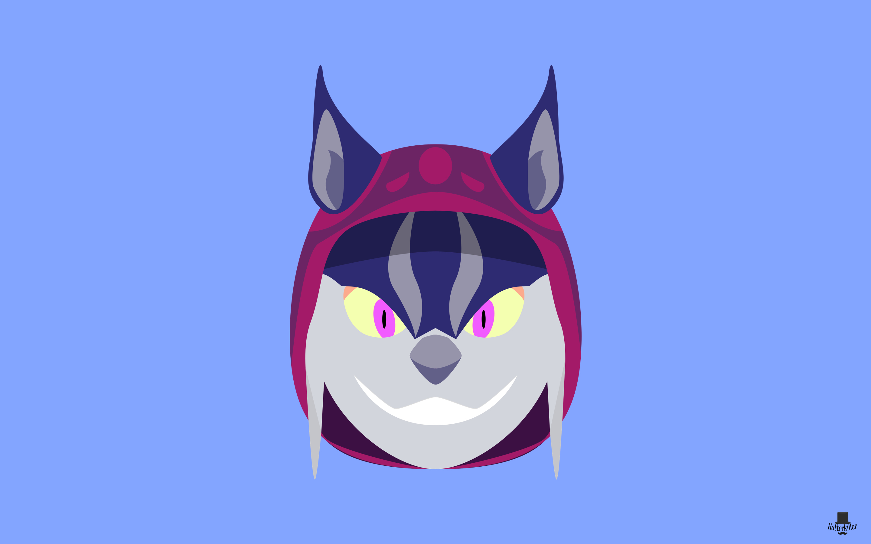 Minimal wallpaper lynx asuri brawlhalla for Minimal art reddit