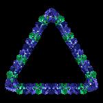 Blue green indigo frame 13 triangle