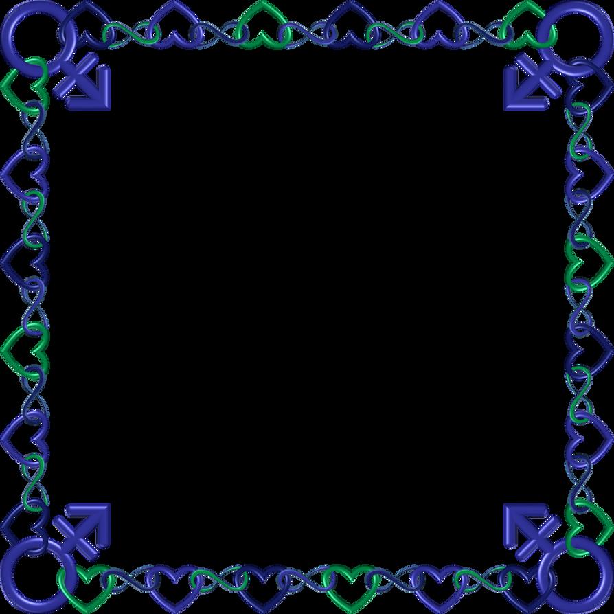 Blue green indigo frame 15 square by happyare