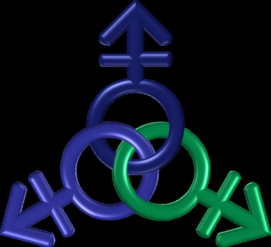 Circle 3 indigo green blue genders ttt by happyare