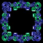 Blue green indigo frame 18 square mfm