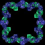 Blue green indigo frame 20 square tfm