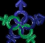 Circle five genders blue green indigo 3