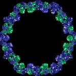 Blue green indigo frame 19 hexagon mfm