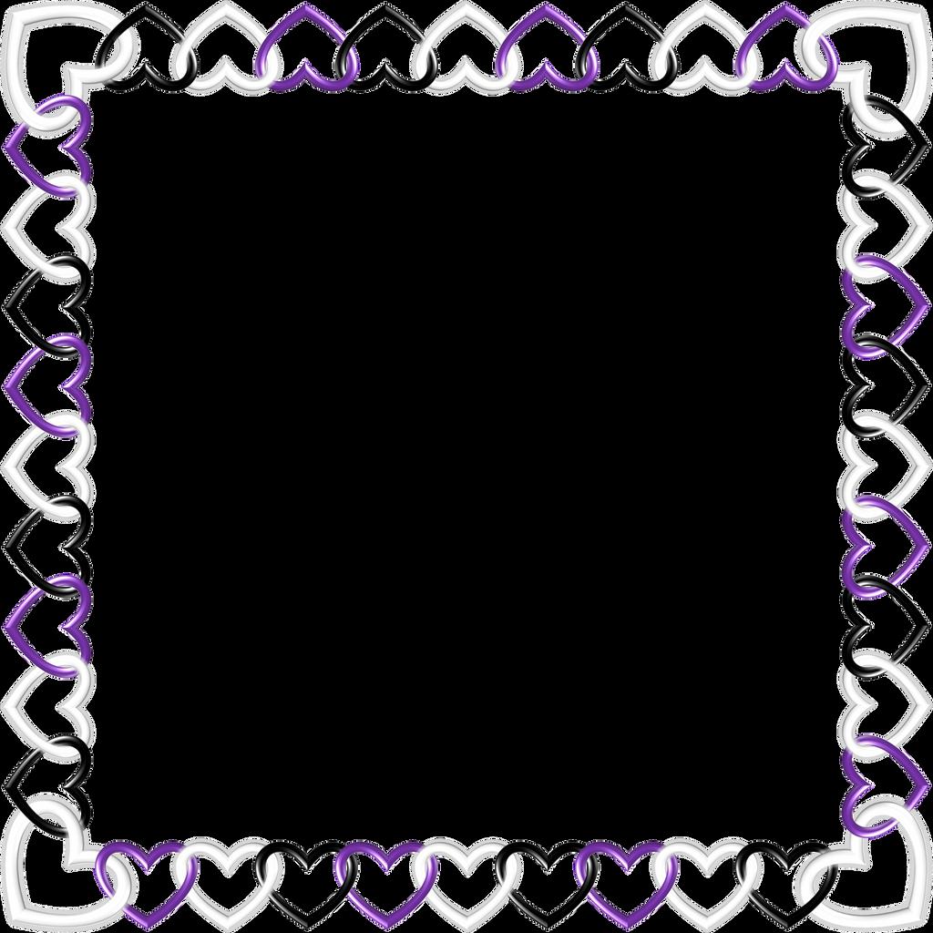 Square black white purple Frame by happyare on DeviantArt