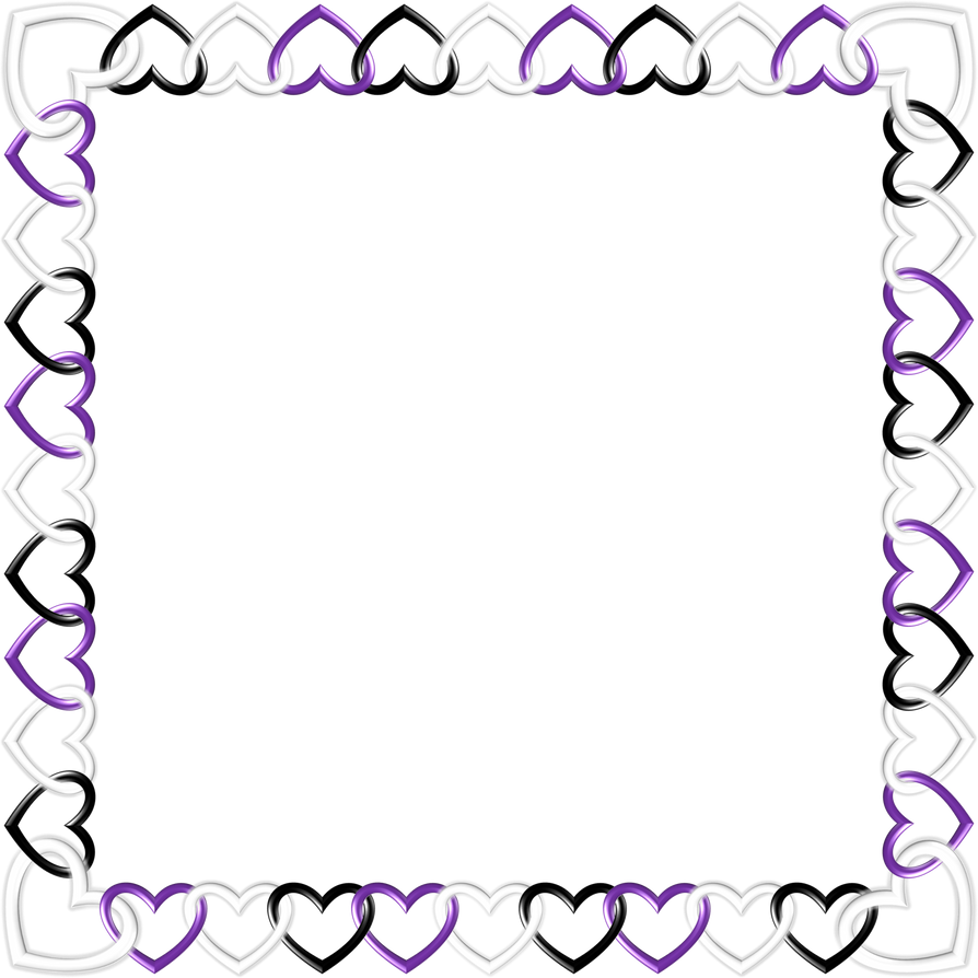 Square black white purple Frame by happyare