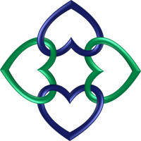 Circle 4 indigo green hearts by happyare