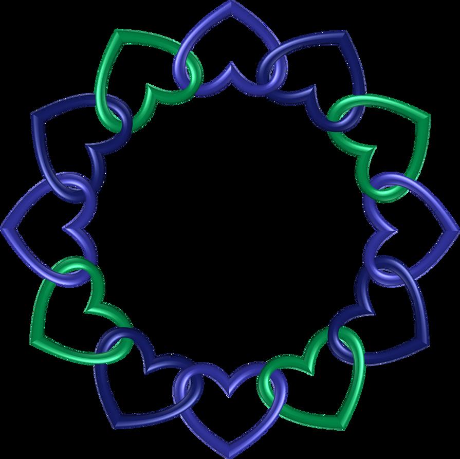 Circle twelve hearts by happyare