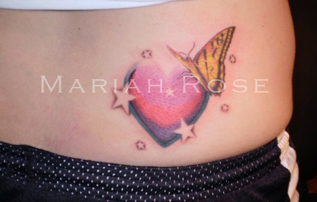 Butterfly with Heart and Stars